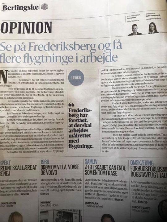 Også mht at få flygtninge i er Frederiksberg i top&#x1f...